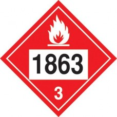Aviation Fuel 1863 Truck Placard Decal TD-1863