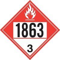 Aviation Fuel 1863 Truck Placard Decal TP-1863B-D