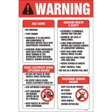 Warning Self Serve Decal D-59-8X12