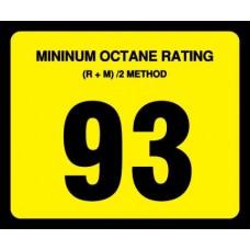 Gilbarco Advantage 93 Octane Overlay OR-93