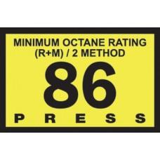 Gilbarco Advantage 86 Octane Overlay R60030-G86