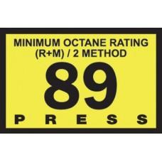 Gilbarco Advantage 89 Octane Overlay R60030-16