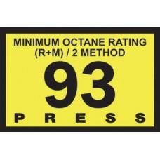 Gilbarco Advantage 93 Octane Overlay R60030-24