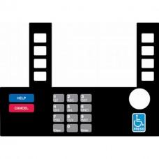 Gilbarco Advantage InfoScreen Keypad Overlay T50038-132A
