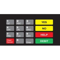 Gilbarco Advantage Keypad Overlay T50064-1076