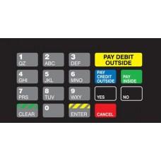 Gilbarco Advantage Keypad Overlay T50064-1133