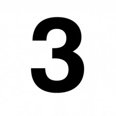 """NFPA 4"""" Number 3 Decal D-TP4#3"""