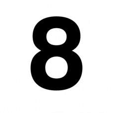 """NFPA 4"""" Number 8 Decal D-TP4#8"""