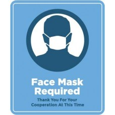 Face Mask Required Decal PID-DEC-COV-MASKR
