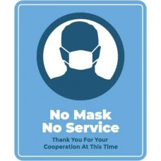 No Mask No Service Decal PID-DEC-COV-NOMASK