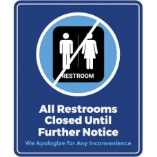 All Restrooms Close Decal PID-DEC-COV-RESTROOM