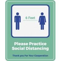 Please Practice Social Distancing Decal PID-DEC-COV-SOCIALDIST-WIN