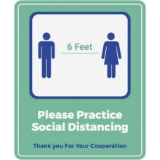 Please Practice Social Distancing Decal PID-DEC-COV-SOCIALDIST-WIN
