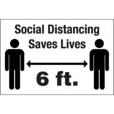 Social Distancing Decal PID-SDD1