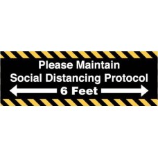 Please Maintain Social Distancing Decal PID-SDD2