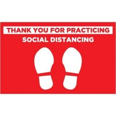 Social Distancing Decal PID-SDD25