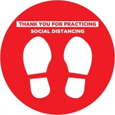 Social Distancing Decal Red PID-SDD6