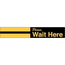 Please Wait Here Decal PID-SDD4