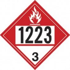 COMBUSTIBLE 1223 TRUCK PLACARD DECAL