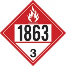COMBUSTIBLE 1863 TRUCK PLACARD DECAL
