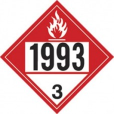 Combustible 1993 Truck Placard Decal
