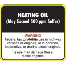 API Heating Oil Decal API-HO