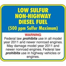API Low Sulphur Diesel Decal API-LSD-NH
