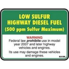 API Low Sulphur Highway Diesel Decal API-LSD1