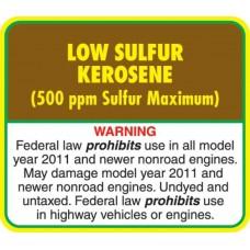 API Low Sulphur Kerosene Decal API-LSK