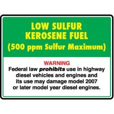API Low Sulphur Kerosene Decal API-LSK1