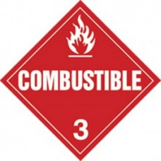 COMBUSTIBLE TRUCK PLACARD DECAL