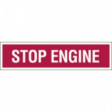 STOP ENGINE PUMP DECAL
