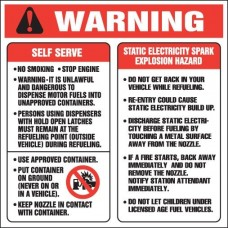 Warning Self Serve Decal D-140