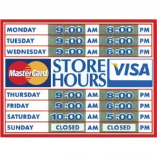 STORE HOURS DECAL SHD-1