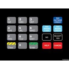 Gilbarco Advantage Keypad Overlay T18724-05