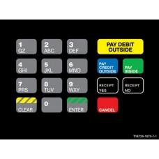 Gilbarco Advantage Keypad Overlay T18724-1074