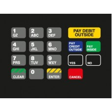 Gilbarco Advantage Keypad Overlay  T18724-1133