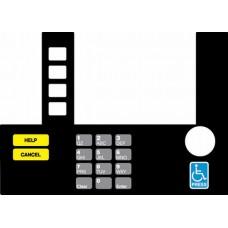 Gilbarco Advantage InfoScreen Keypad Overlay T50038-102A