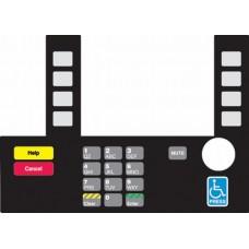 Gilbarco Advantage InfoScreen Keypad Overlay T50038-123A