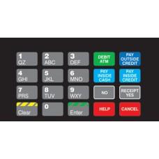Gilbarco Advantage Keypad Overlay T50064-1064