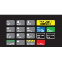 Gilbarco Advantage Keypad Overlay T50064-1074