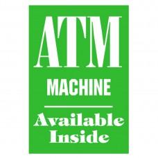 ATM MACHINE ALUMINUM SIGN AC42-G