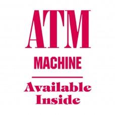ATM MACHINE ALUMINUM SIGN AC42-R