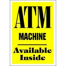 ATM MACHINE ALUMINUM SIGN AC42-Y