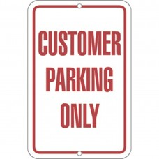 CUSTOMER PARKING ALUMINUM SIGN ADAR7-141