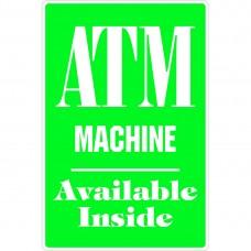 ATM MACHINE ALUMINUM SIGN C8