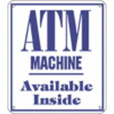 ATM MACHINE ALUMINUM SIGN CU-P-24