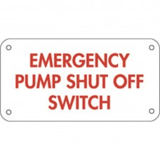 EMERGENCY SHUT OFF SIGN ESO-1