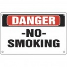 DANGER NO SMOKING SIGN M-DNS