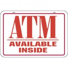 ATM ALUMINUM SIGN PSH-10-R